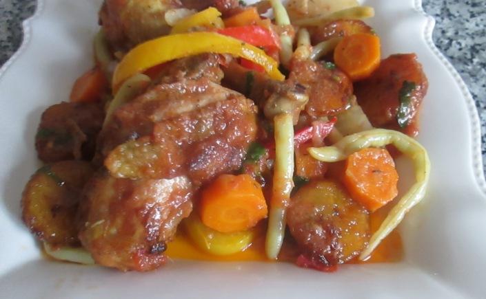 Poulet dg recette camerounaise cuisine africaine cr ole du sud du soleil et la cuisine du monde - Recette de cuisine camerounaise ...